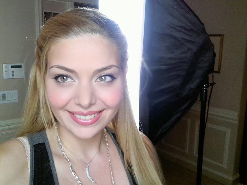 Makeup applied to Actress Janet Miranda.