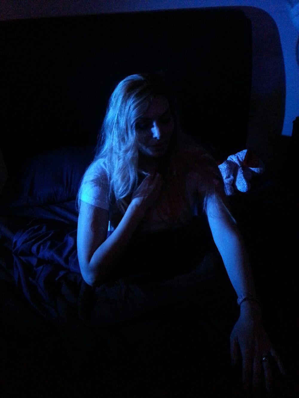 Actress Janet Miranda scared of the dark.