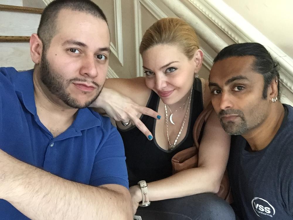 Script Supervisor Brian Austin Padua,Actress Janet Miranda and Stunt Coordinator Alim Ali.