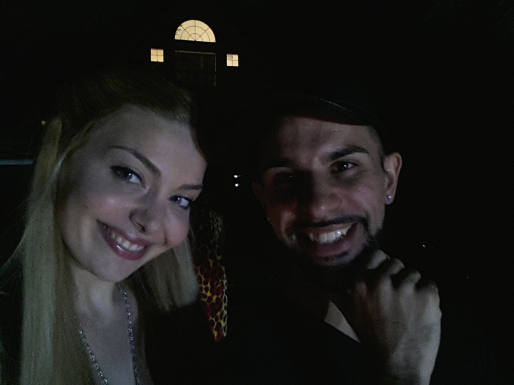 Actress Janet Miranda and Director/Producer Chase Michael Pallante enjoying break time on set.