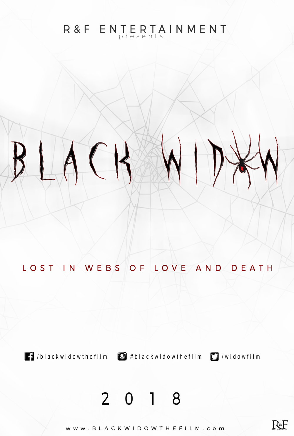 BLACK WIDOW THE FILM OFFICIAL MOVIE TEASER POSTER RFE RFENTERTAINMENT