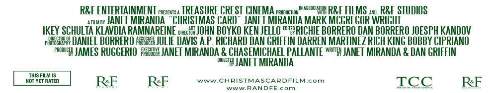 CHRISTMAS CARD FILM CREDITS