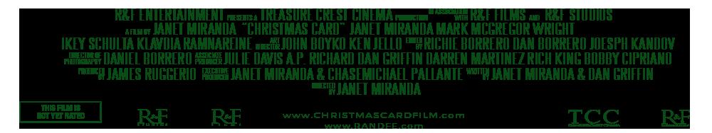CHRISTMAS CARD FILM CREDITS