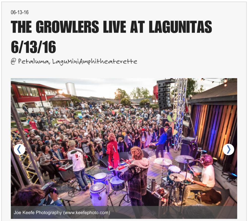 THE GROWLERS, LIVE @ LAGUNITAS - June 13, 2016https://lagunitas.com/music/growlers-liveatlagunitas* Photos by Joe Keefe