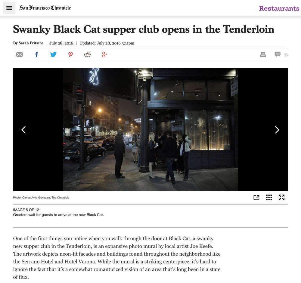 THE BLACK CAT, San Francisco, CA - July 28, 2016Swanky Black Cat supper club opens in the Tenderloin