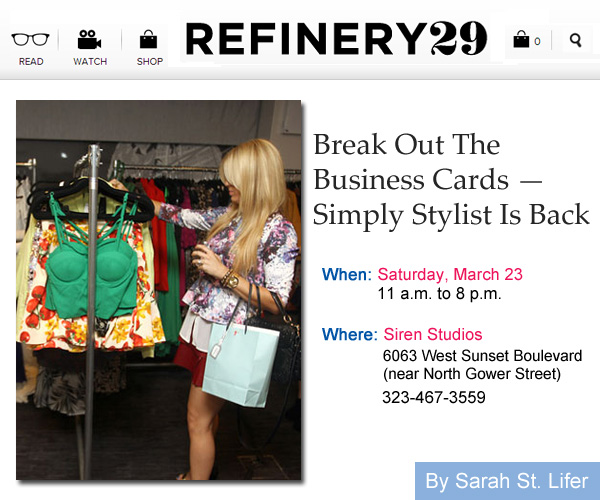 Refinery29 - Simply Stylist Is Back