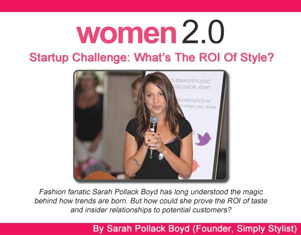 Simply Sarah - Women2.0 - ROI Of Style