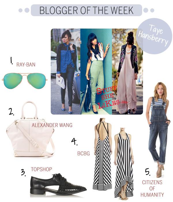 Blogger of the Week - Taye Hansberry - Stuff She Likes