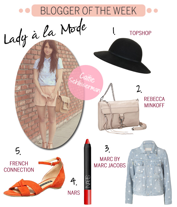 Blogger of the Week - Caitie Schlisserman - Lady a la Mode