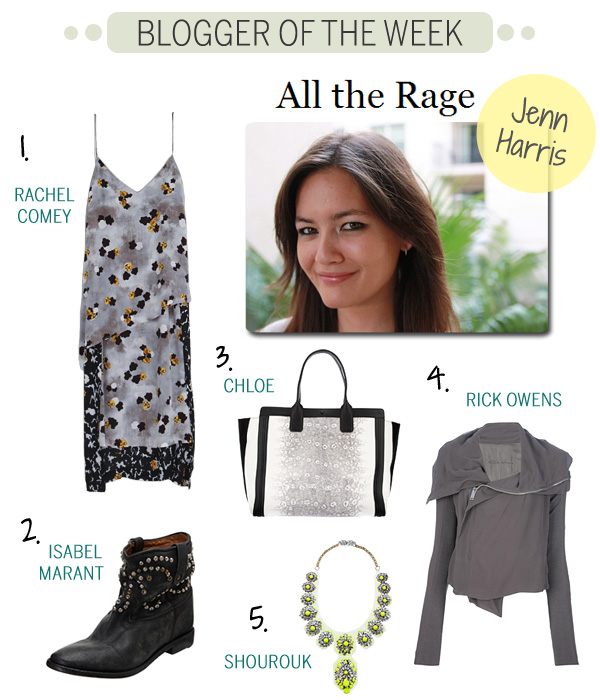 Blogger of the Week - Jenn Harris - All The Rage