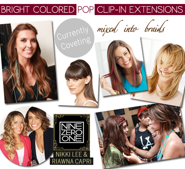 Currently Coveting - Colored Pop Clip-In Extensions - Nikki & Riawna