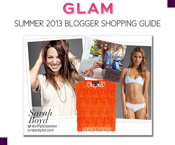 Simply Sarah - Glam Summer Shopping Guide