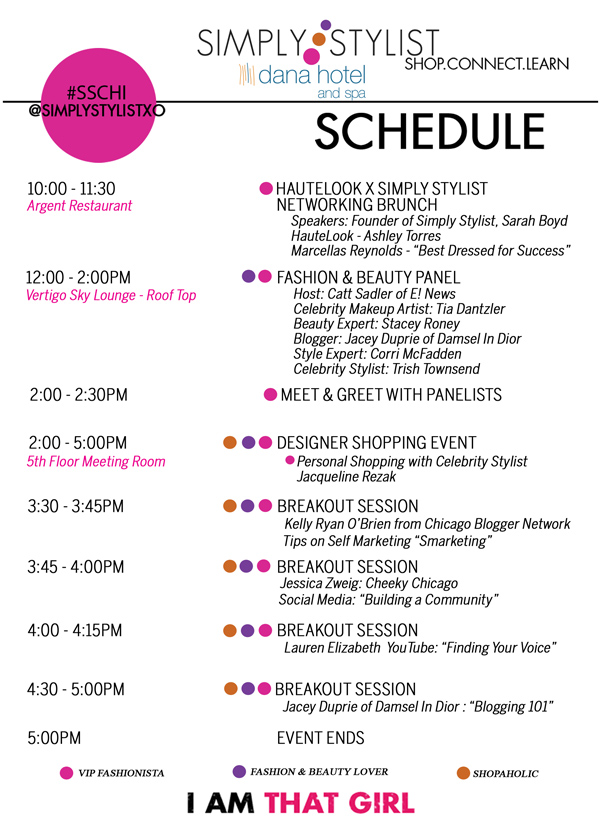 Simply Stylist Chicago Schedule