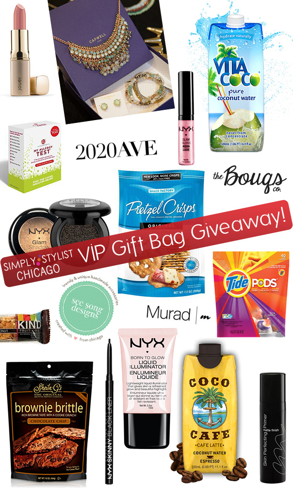 Simply Stylist Chicago VIP Gift Bag Giveaway