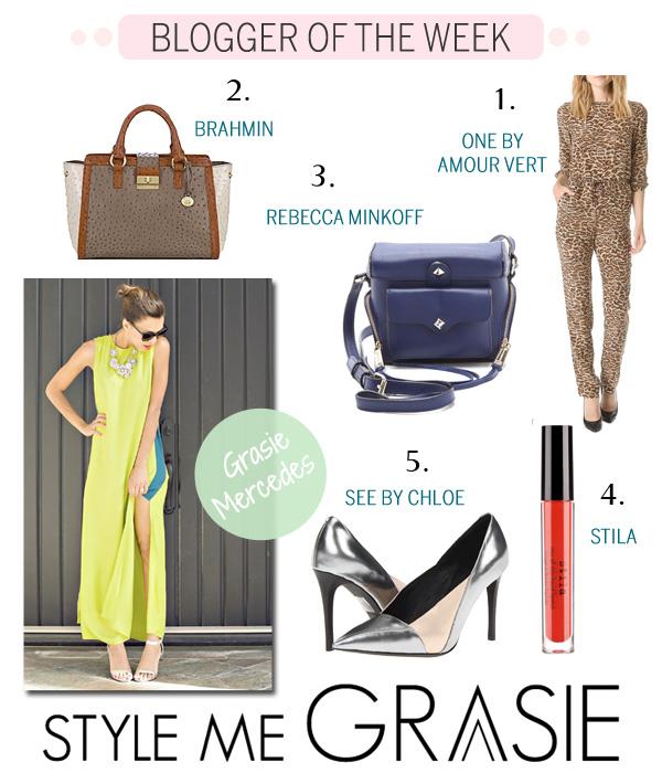 Blogger of the Week - Grasie Mercedes - Style Me Grasie