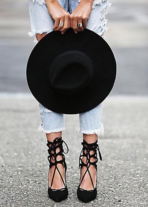 free people-black-heels