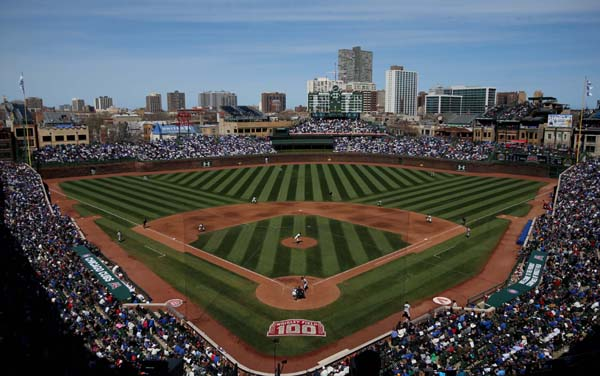 Apr 23, 2014; Chicago, IL, USA; A general view during the fifth inning of a baseball game between the Chicago Cubs and Arizona Diamondbacks at Wrigley Field. Mandatory Credit: Jerry Lai-USA TODAY Sports