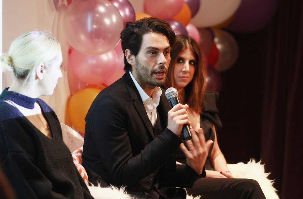 From left, Christine Cameron, Joey Maalouf and Jackie Demetrio speak onstage at the Simply Stylist New York Fashion and Beauty Conference at YOTEL on Saturday, Nov. 5, 2016, in New York City. (Photo by Soul Brother)
