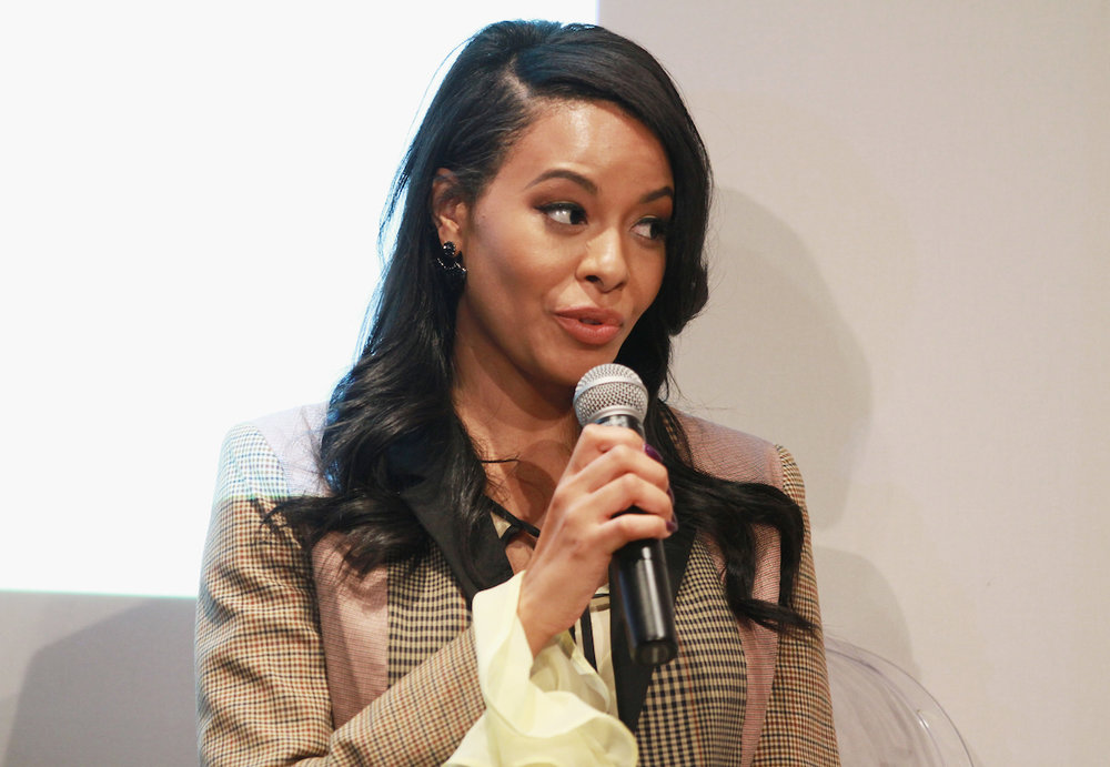 Vanessa Simmons speaks onstage at the Simply Stylist New York Fashion and Beauty Conference at YOTEL on Saturday, Nov. 5, 2016, in New York City. (Photo by Soul Brother)