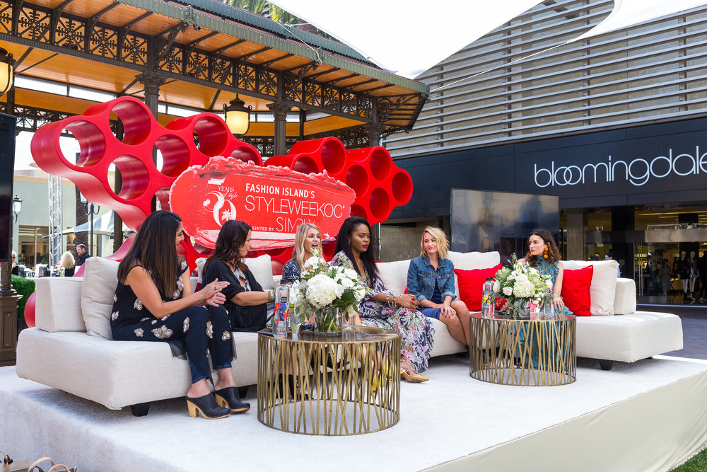 FROM LEFT: Anthropologie & Co. General Brand Leader Haleh Khosrowpour, Found Rentals owner Jeni Maus, lifestyle bloggers Ashley Tarkington, Keyma Morgan, and Ashley Fultz, and NYLON Contributing Editor Samantha Gutstadt