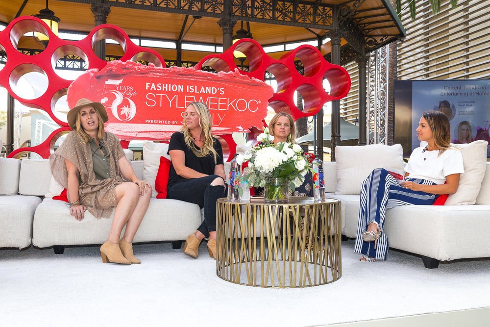 FROM LEFT: Sweet & Saucy co-owner Melody Brandon, JL Designs floral designer Carissa Jones, Jesi Haack of Jesi Haack Design, and SIMPLY founder Sarah Boyd