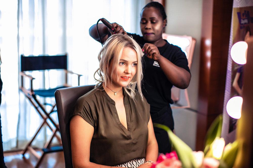 Hair touchups at Sisters Beauty Lounge