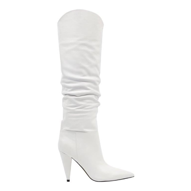Marc Fisher LTD Hanny Heeled Boot in White Leather  | $299