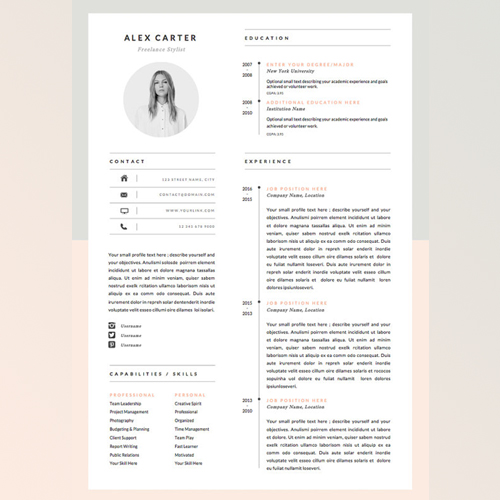 Resume Template by  OddBitsStudio