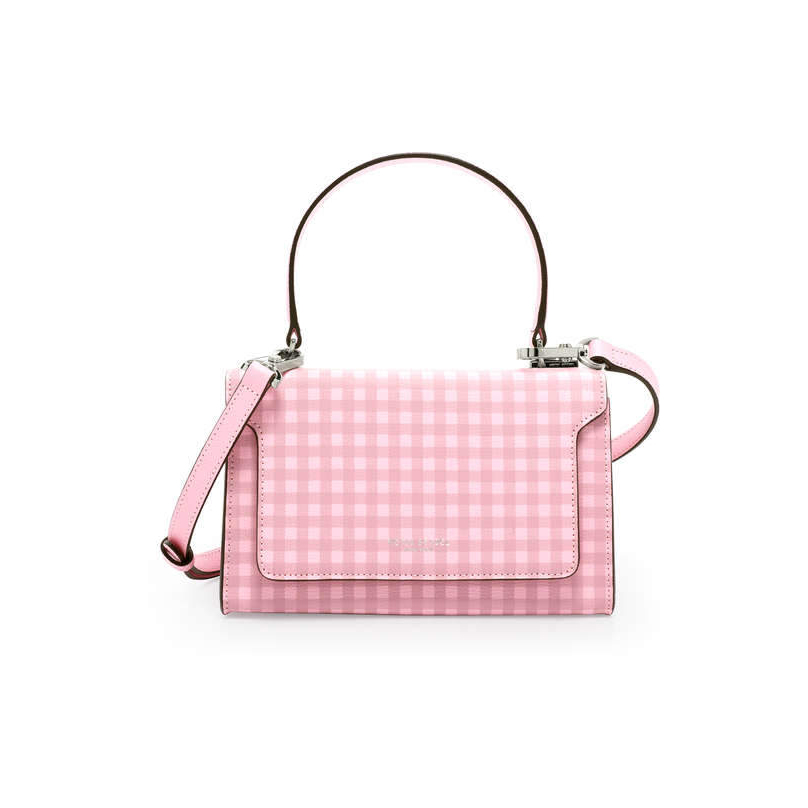 Henri Bendel Claremont Top Handle Gingham Satchel