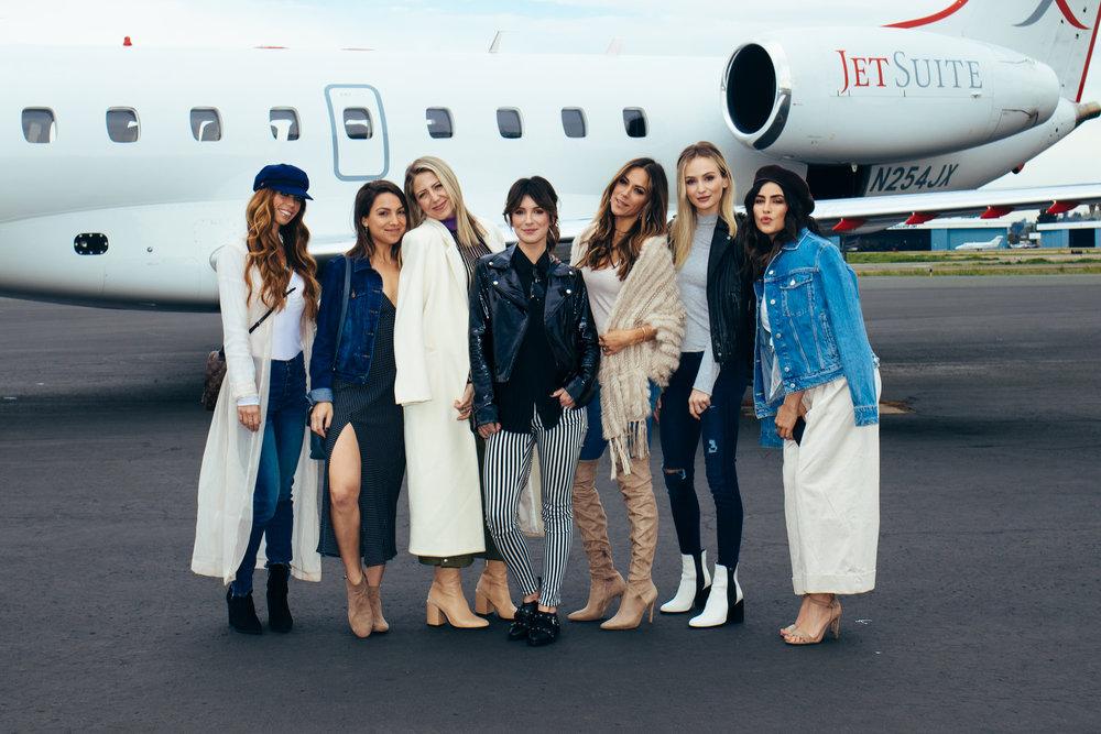 From left: Lydia McLaughlin, Sarah Boyd, Lindsay Albanese, Shenae Grimes-Beech, Jana Kramer, Lauren Bushnell, and Sazan Hendrix