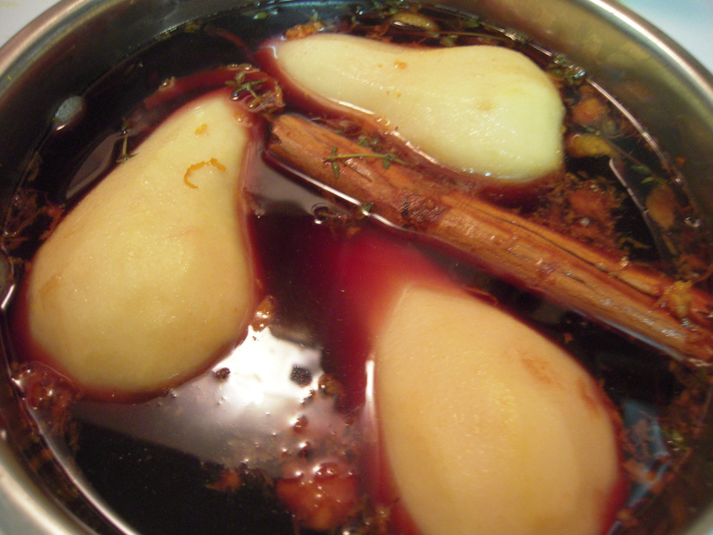 Poached Spiced Pear