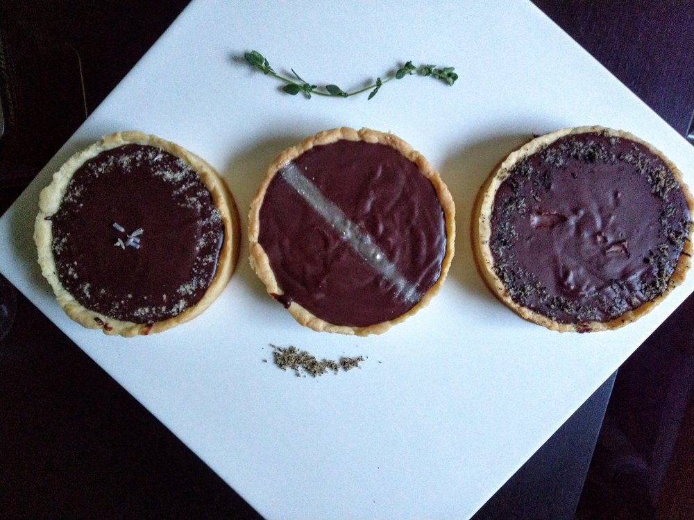 Chocolate. Herb. Tart.