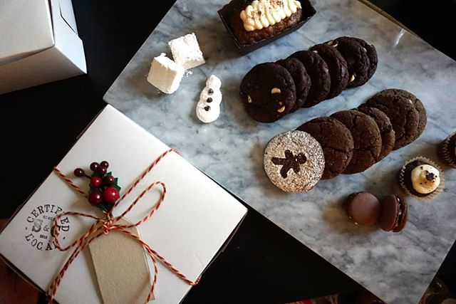 I love the holidays  Cookie drops in full effect. See what's in the box this year:) #seasonal #sandc #madewithlove #homemade #christmas #holiday #cookies #love #happyholidays #food #sweets #winter