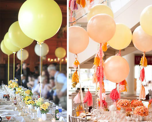 Include balloons in your wedding — celebrations by shari