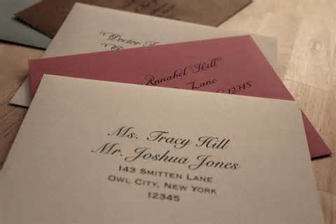 The Etiquette Of Writing And Addressing Wedding Invitations