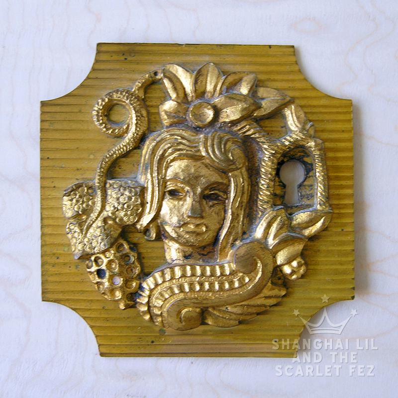 Bronze key plate. Vadim Androusov. 1940s-1950s. Love.