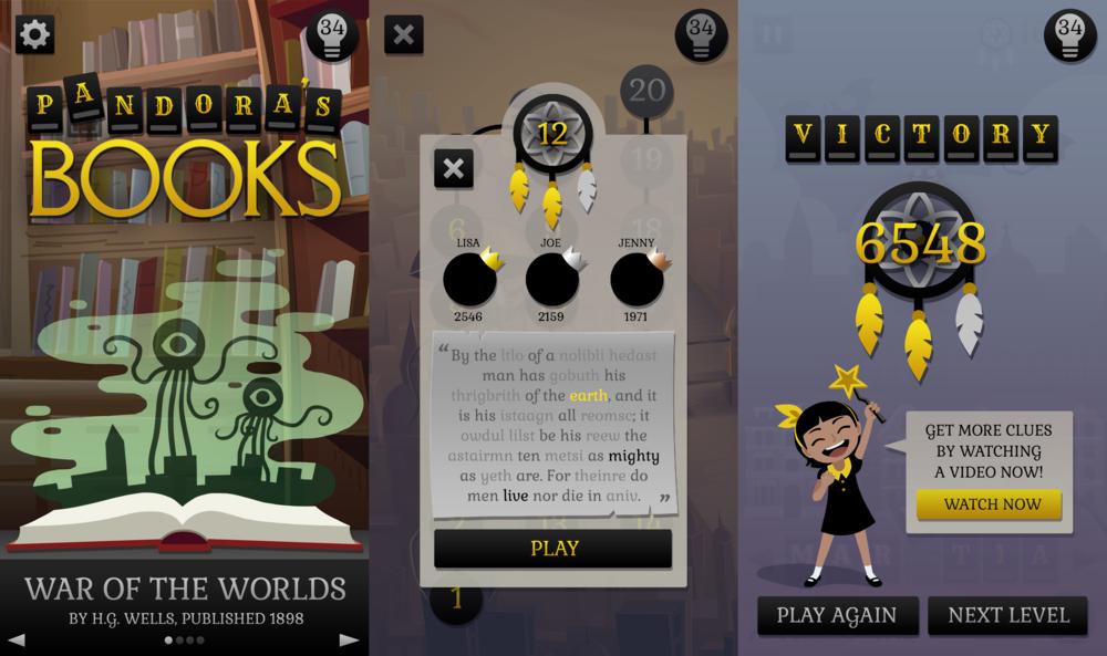 Pandora's Books UI Mockups