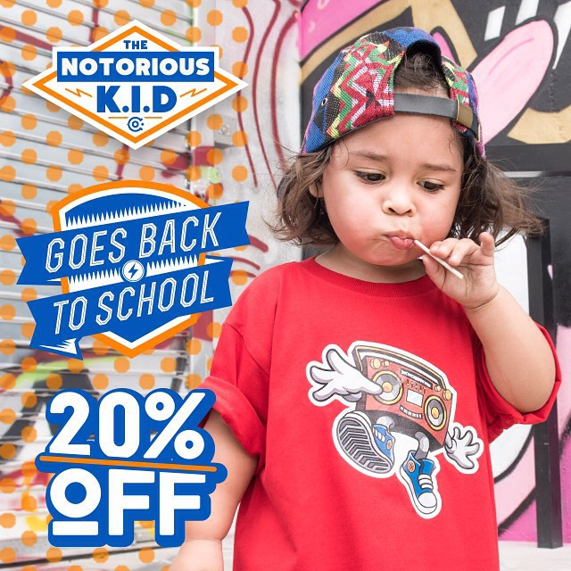 Summer break is over, but don't be sad! 😎 Send your youngins back to school looking fresh in their new Notorious gear! Here's 20% off because we love you: use code BACKPACKRAP at checkout.
