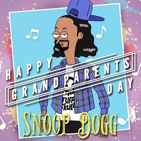 It's hard to believe Snoop D-O-double-G and a few of your other favorite MCs have grandK.I.Ds! #happygrandparentsday #thenotoriouskid #snoopdogg