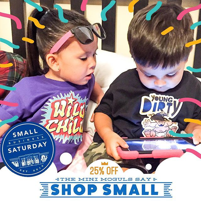 It's a BIG day for the K.I.Ds' small business, so our mini moguls have authorized us to offer a discount to celebrate Small Business Saturday! Now through Monday, use code SMALLBIZ at checkout to get 25% off any order!  #shopsmall #smallbizsat #smallbusinesssaturday #shoplocal