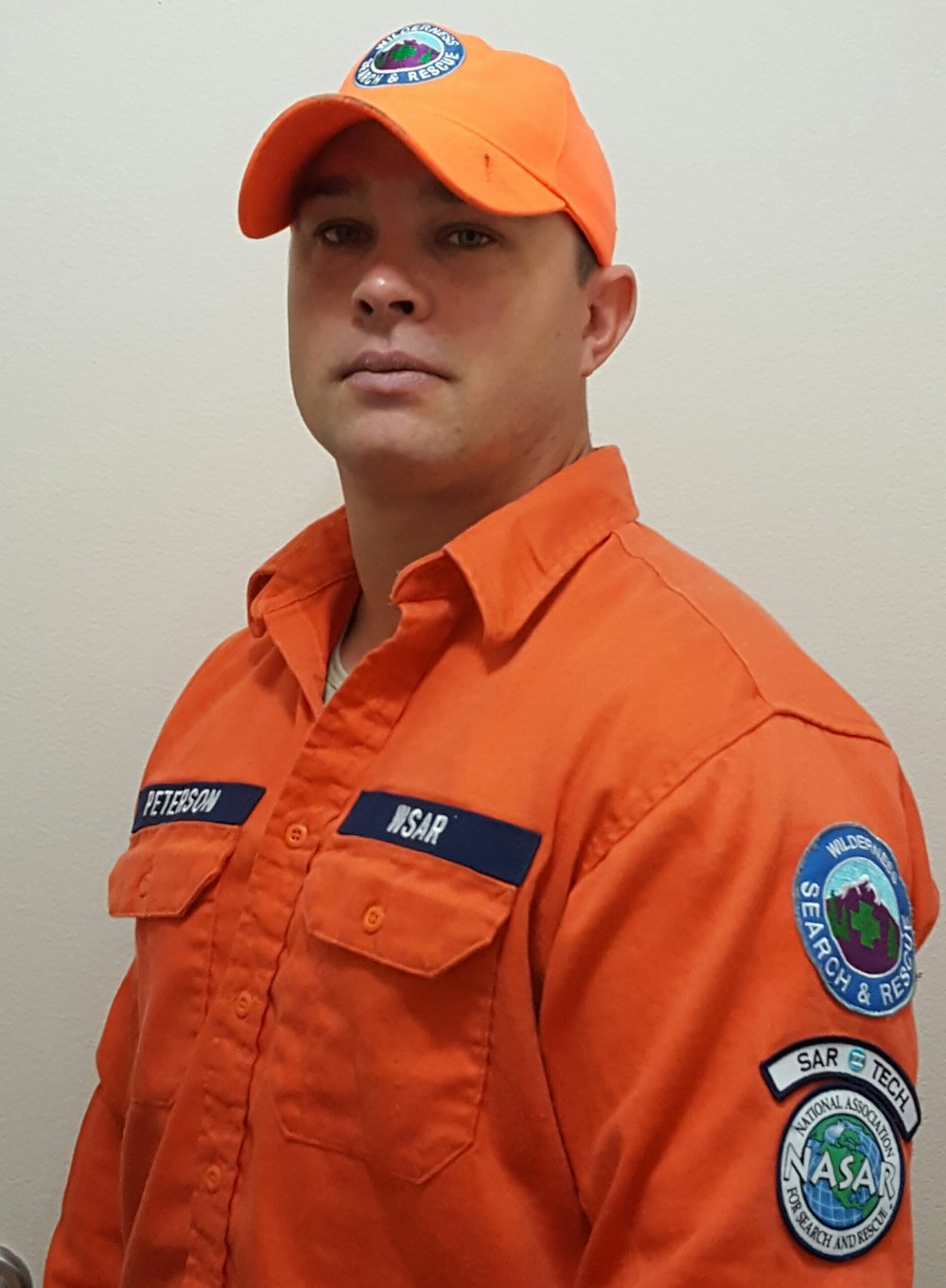 Technical Sergeant Mark Peterson  Eielson Air Force Base 354th CES/CEM As a Wilderness Search and Rescue (WSAR) operational member, TSgt Peterson assists the Alaska State Troopers with lost person incidents anywhere in the State of Alaska.  He is a National Associate for Search and Rescue (NASAR) certified SARTECH II and Tracker III (1 of 14 in the state with both skillsets).  TSgt Peterson has completed several hours of intense training that covers advanced land navigation, search techniques, advanced tracking skills, intro to incident command, small unit leadership, crew safety, SAR dog tactics, traversing hazardous terrain and improvised crew transport.  He is also working toward his public safety diver certification for the search and recovery of persons and objects under water.  It is the first team of its kind in the North Star Borough area.