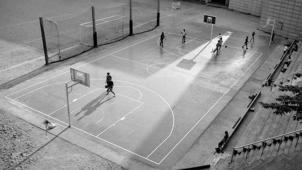 Public basketball court. Source: Unsplash