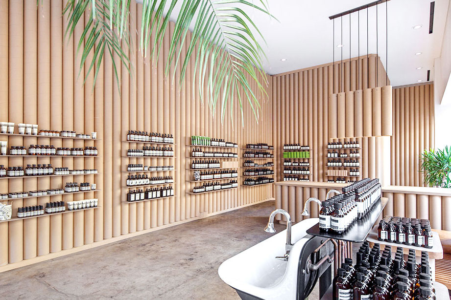 Aesop's Los Angeles location, designed by Brooks + Scarpa. Source: Taxonomy of Design by Aesop