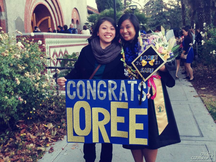 Loree's Graduation Day w/ DIY Ribbon Lei | DIY Ribbon Lei | craftycarmen