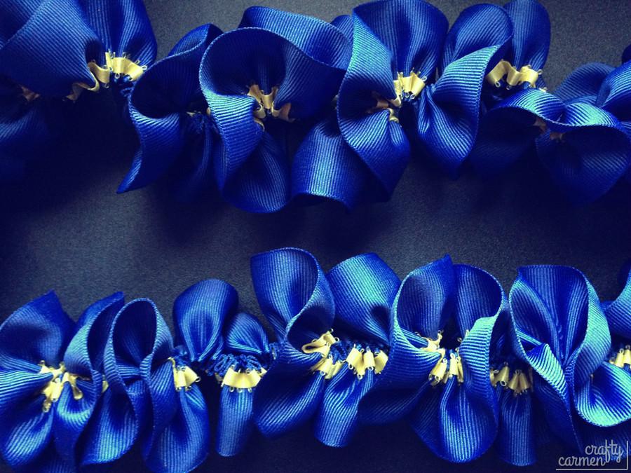 DIY Ribbon Lei | craftycarmen