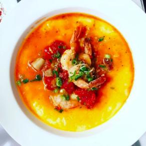 SHRIMP & GRITS - Brenda's French Soul Food • San Francisco, CA