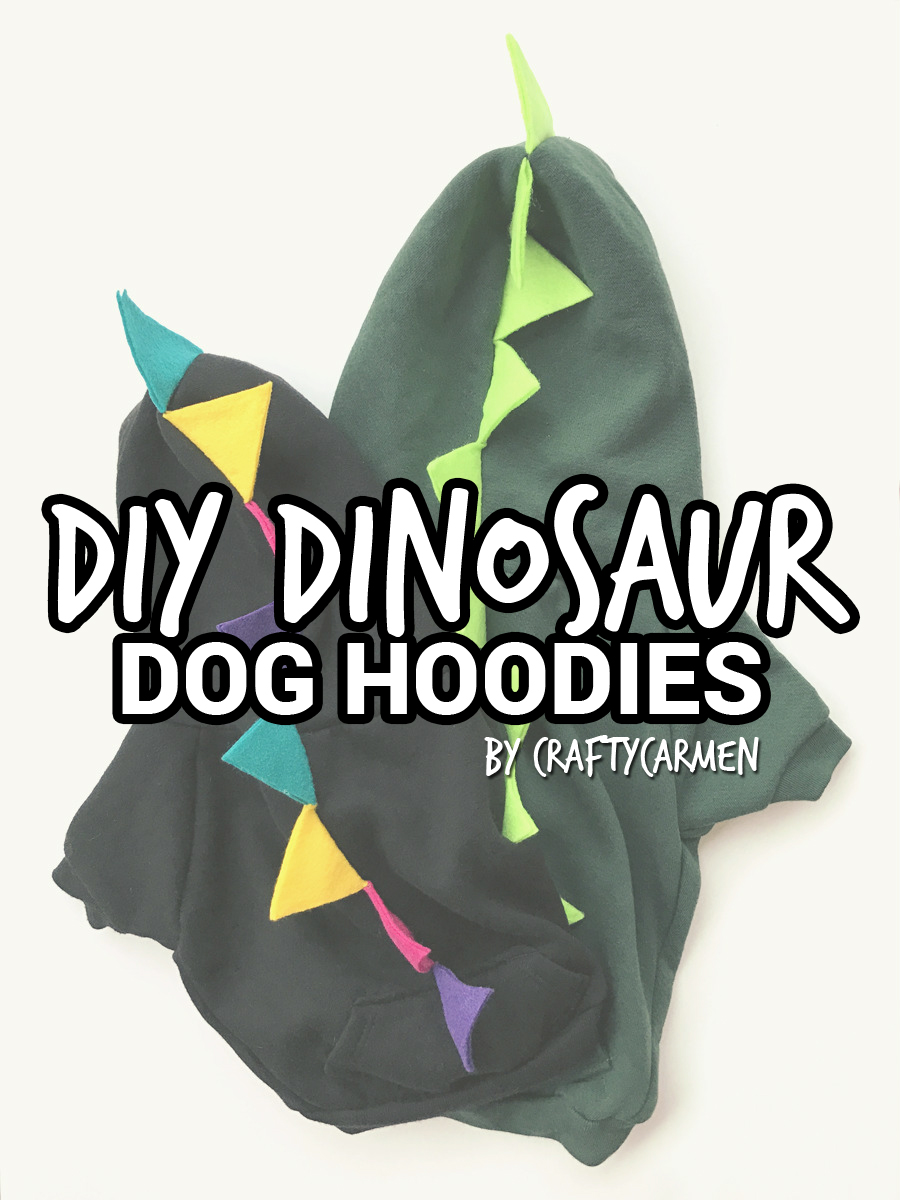 Diy dinosaur dog hoodies craftycarmen make your own halloween dog costume this easy diy tutorial shows you how to turn maxwellsz