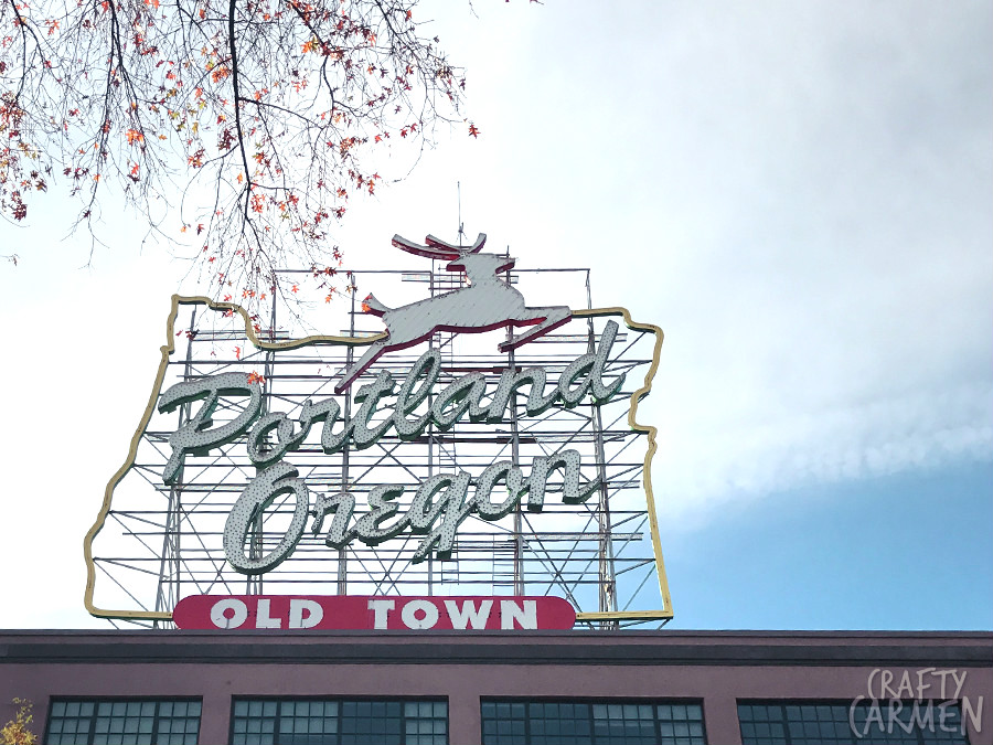 White Stag Sign in Portland, OR | craftycarmen