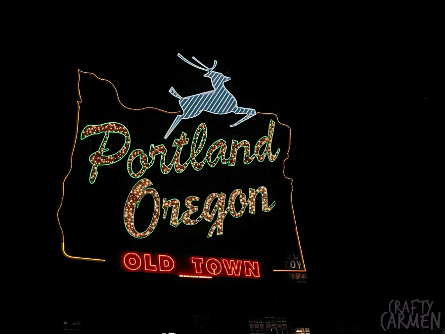 White Stag Sign in Portland, OR | craftycarmen