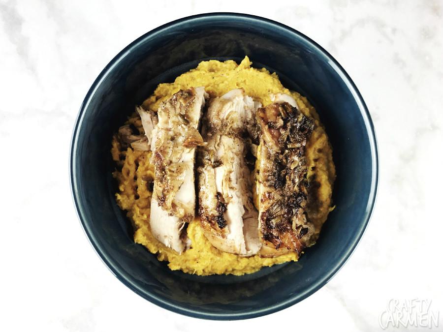 Spiced Butternut Squash Mash with Jerk Turkey — Recipes from The Seasoned Life by Ayesha Curry | craftycarmen